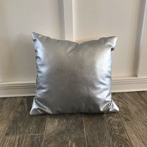 Silver Metallic Throw Pillow